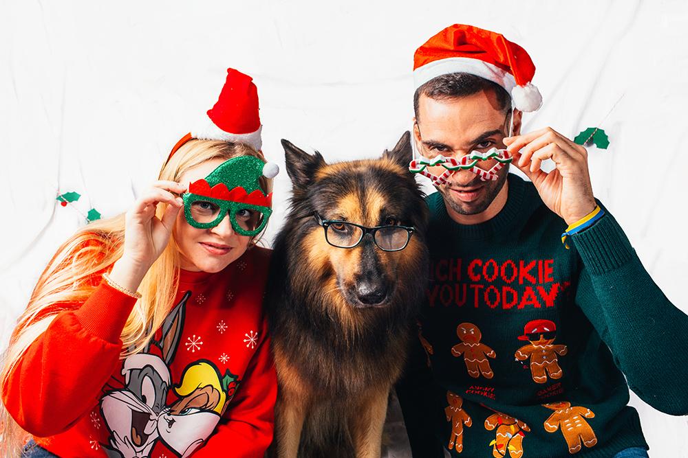 Sesión navideña mascotas